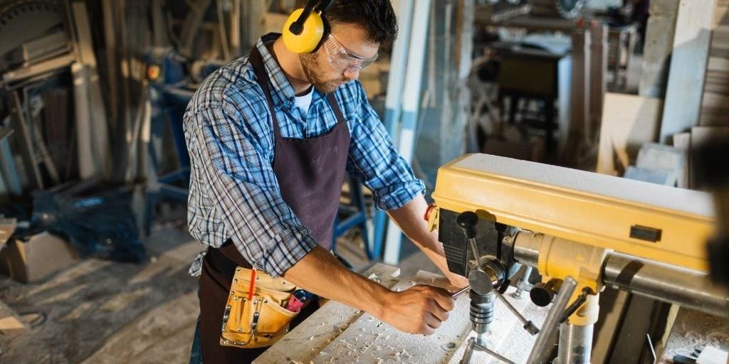 wood working in garage