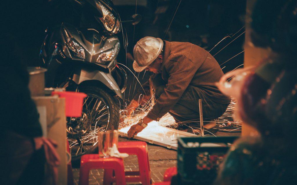 metalworking in garage