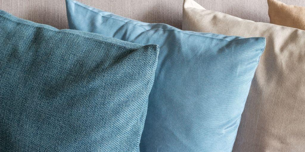 farmhouse style fabric pillows