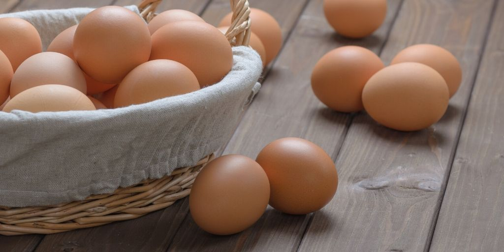Brown Eggs Inside The Basket