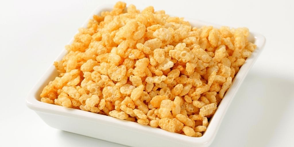 small amount of rice krispies to be fed as chicken treats
