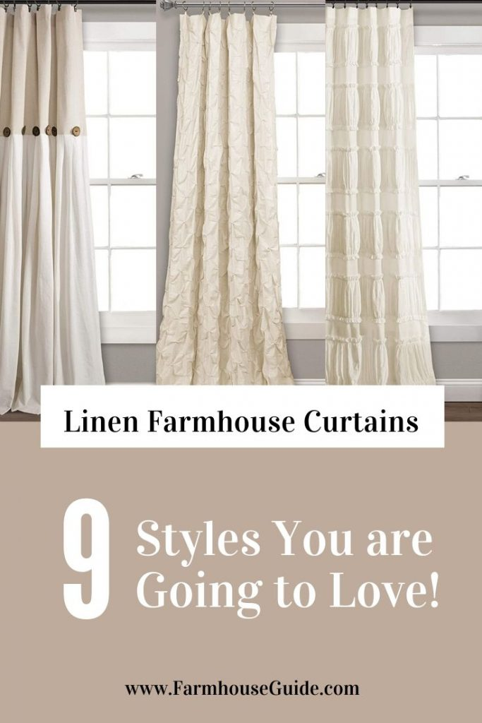 9 Linen Farmhouse Style Curtains You Are Going To Love Farmhouse Guide
