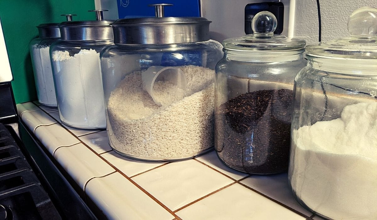 glass containers for pantry