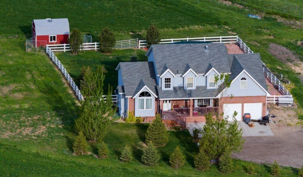 Farmhouse at farmland