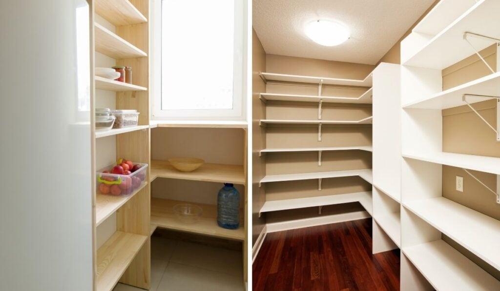 Empty Pantry Shelves