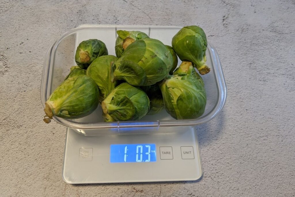 1 pound of brussel sprouts