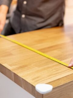 measuring a countertop