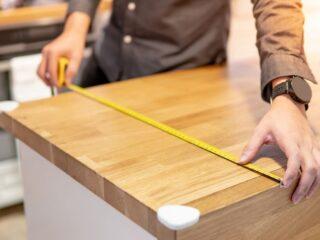 measuring a countertop