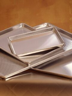 various sized sheet pans