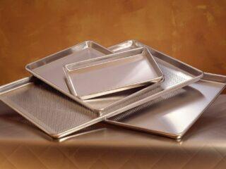 various sized sheet pans
