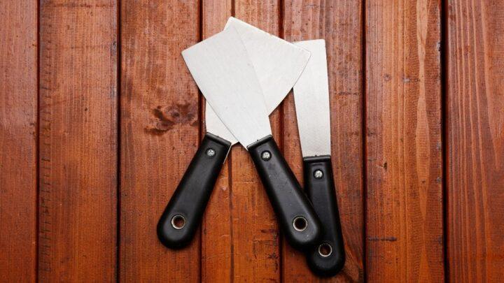 diy spatulas on a wood surface