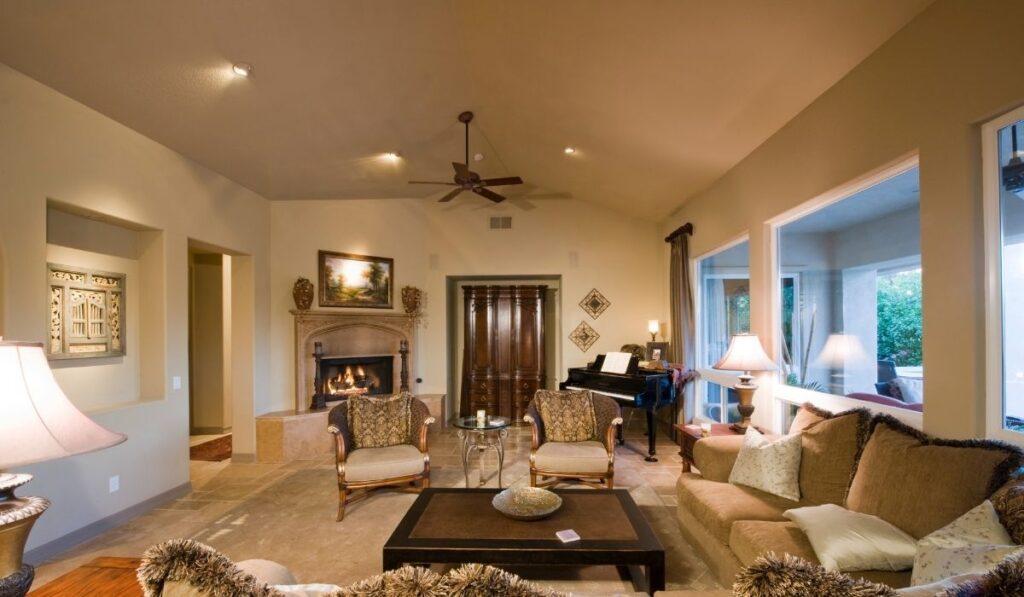 Ceiling Fan in a Living Room