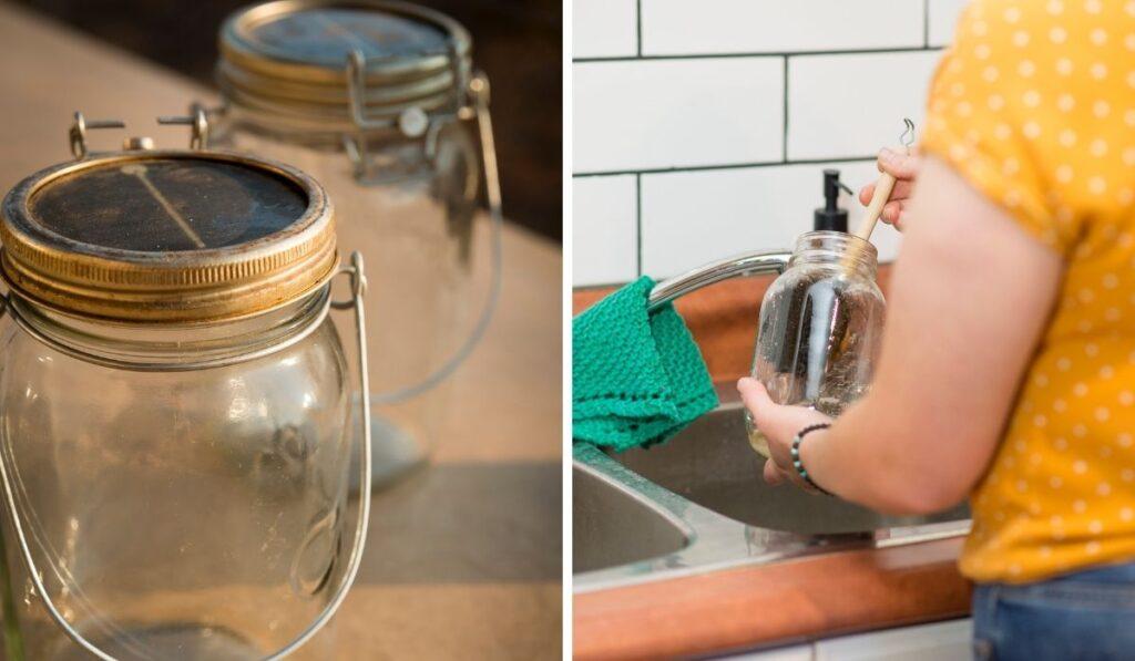 Cleaning Mason Jar