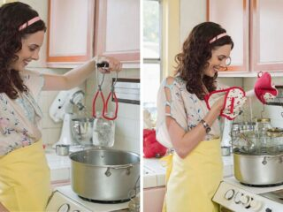 Mason-Jar-And-Lid-In-Boiling-Water
