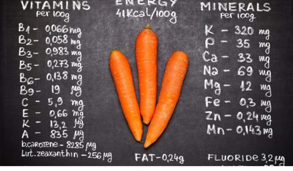 nutrition facts of carrots