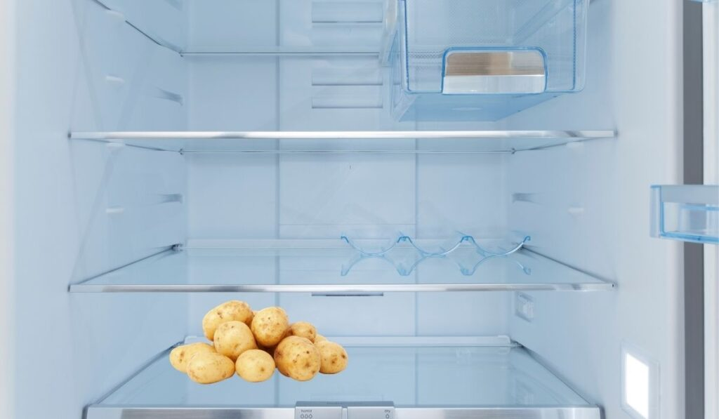 potatoes inside fridge