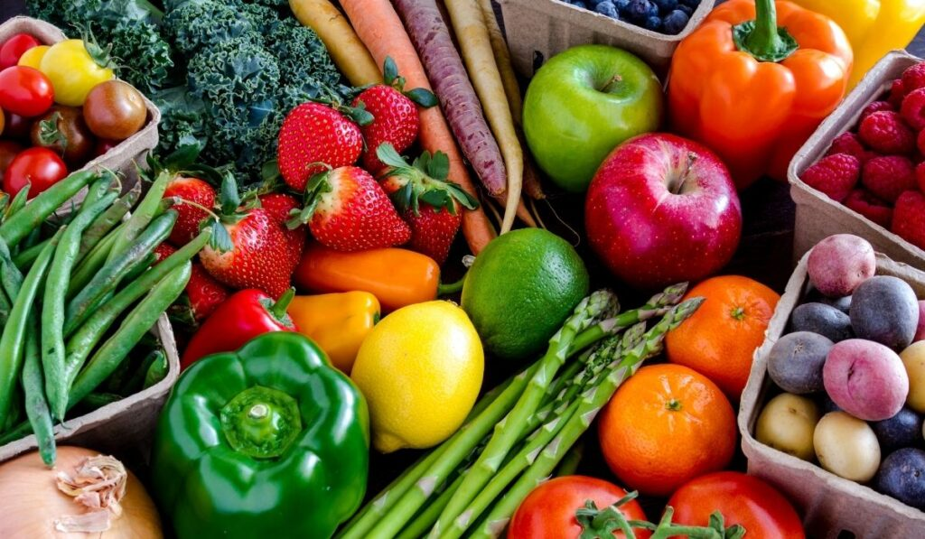 variety of fruits and vegetables on the table
